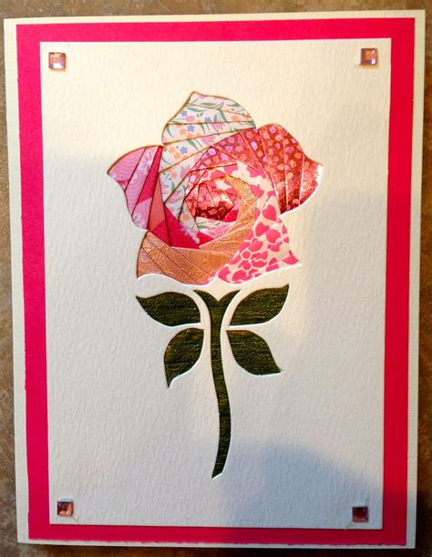 rose iris folding  carolyn michelsen iris folding