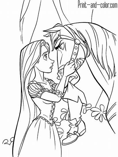 Rapunzel Coloring Pages Maximus