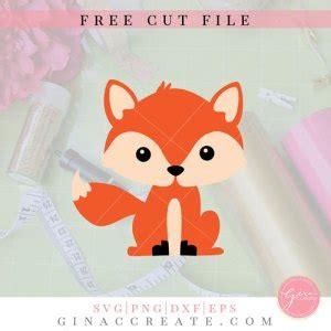 Wordmark of fox, the word fox possibly in john sans typeface. Free SVG Cut File | Fox - Gina C. Creates