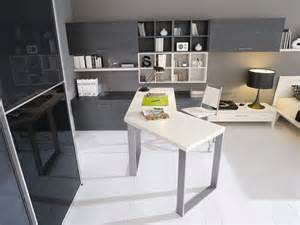 Best Ergonomic Living Room Furniture by Black And White Modern Study Room With Creative Desk