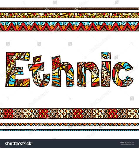 What Is Ethnic Background Ethnic Background Design With Ornament Stock