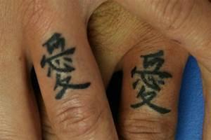 Finger Tattoo Symbole : 45 japanese and chinese characters tattoo ~ Frokenaadalensverden.com Haus und Dekorationen