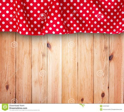 Wooden Texture Background And Tablecloth Stock Photo