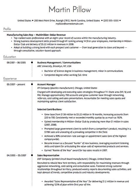Best Resume Sles 2017 by 10 Sales Resume Sles Hiring Managers Will Notice