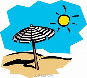 Sunny day at the beach Royalty Free Vector Clip Art ...