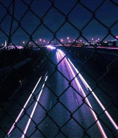 grunge glow neon aesthetic lights black