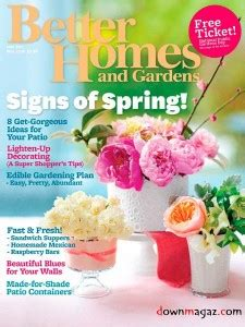 free magazine better homes and gardens subscription