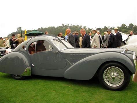 Type 57s were built from 1934 through 1940, with a total of 710 examples produced. Pebble 2010: 1937 Bugatti 57S Atlantic