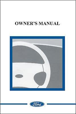 ford  ranger owner manual portfolio kit english