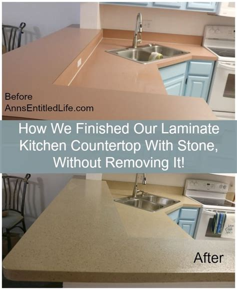 Granite Countertop Removal by How We Finished Our Laminate Kitchen Countertop With