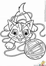 Coloring Yarn Cat Pages Kitten Playing Kitty Ball Clipart Electronic Colorings Amazing Getcolorings Drums Printable Print Description Books Getdrawings Template sketch template