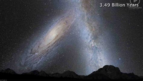 Andromeda And The Milky Way Collision In 3 2 1