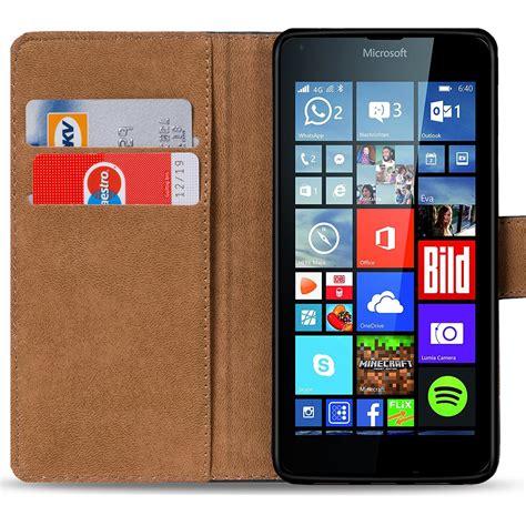 handy tasche f 252 r microsoft lumia 640 xl flip cover schutz h 252 lle schwarz ebay