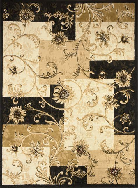 floral area rugs 5x8 contemporary black multi floral 5x8 blocks area