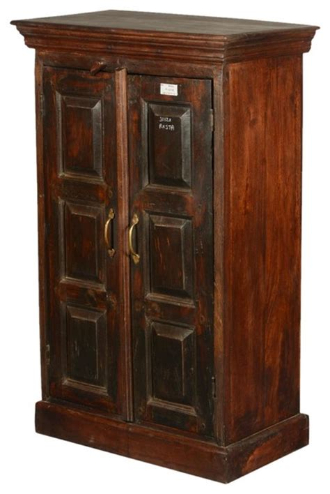 tall accent cabinets with doors shaker rustic reclaimed wood double door 43 quot tall cabinet