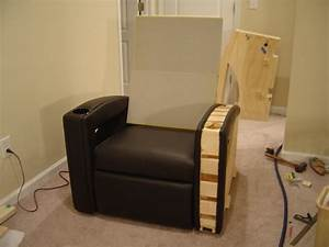 homemade home cinema furniture home decorating ideas With build a recliner