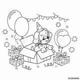 Kleurplaat Schattige Puppy Cartoon Met Kleurplaten Hond Verjaardag Coloring Pagina Strik Outline Overzicht Dieren Schattig Birthday Dog Voor Kinderen Leuk sketch template