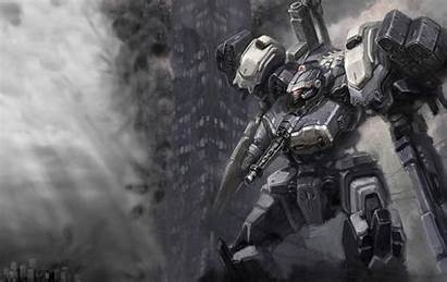 Wallpapers Mech Core Armored