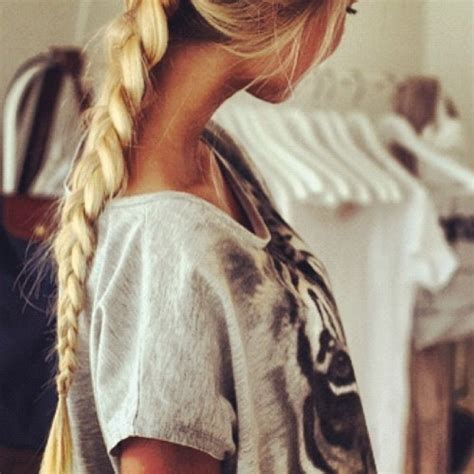 Blonde Braided Ponytail Pictures Photos And Images For