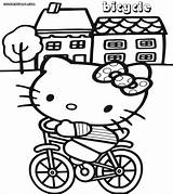 Bike Coloring Pages Sheet Kitty Coloringway sketch template