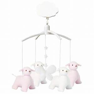 Mobile Musical Rose : d coration mobiles et guirlandes mobile musical mouton rose et blanc rose milk ~ Teatrodelosmanantiales.com Idées de Décoration