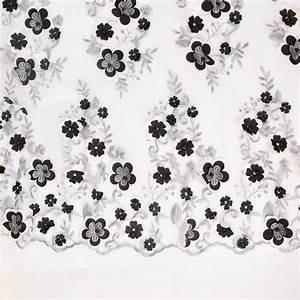 Stoff Mit Blumen : stickerei t ll perlen stoff t ll mit blumen und perlen bestickt creme schwarz 1 5m breite stoffe ~ Watch28wear.com Haus und Dekorationen