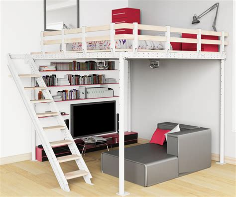 small bedroom storage ideas modern loft beds for adults with stair modern loft beds