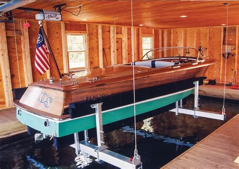 Sling Style Boat Lift by Custom Built Boat Lifts For Boathouses
