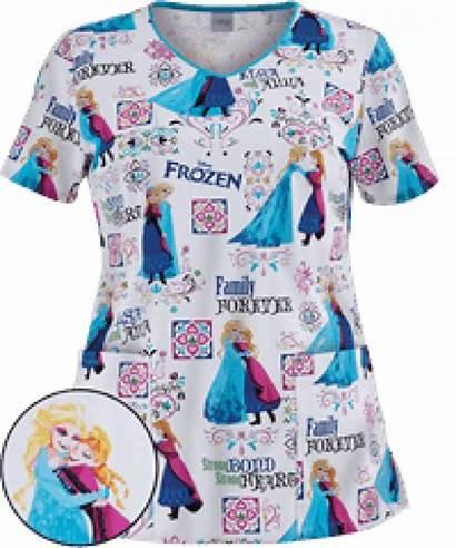 Scrubs Disney Pediatric Nursing Scrub Tops Medical