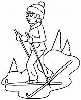 Coloring Skiing Pages Winter Ski Topcoloringpages Library sketch template