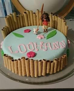 cake design vaiana pour l39anniversaire de ma fille blog With salle de bain design avec décoration gateau anniversaire pate a sucre