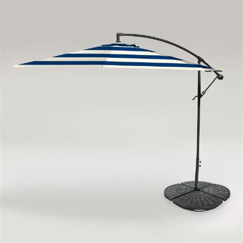 cafe stripe outdoor 10 ft cantilever umbrella and weight