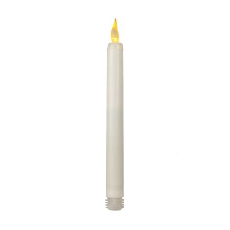 battery operated timer taper candle twist activated amber