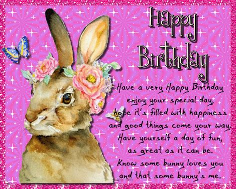 bunny loves   happy birthday ecards greeting cards