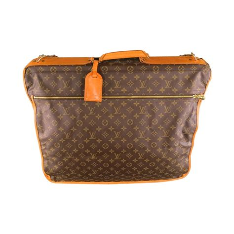 vintage louis vuitton brown canvas travel garment bag  stdibs
