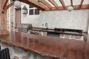 Outdoor Concrete Countertop with Bar