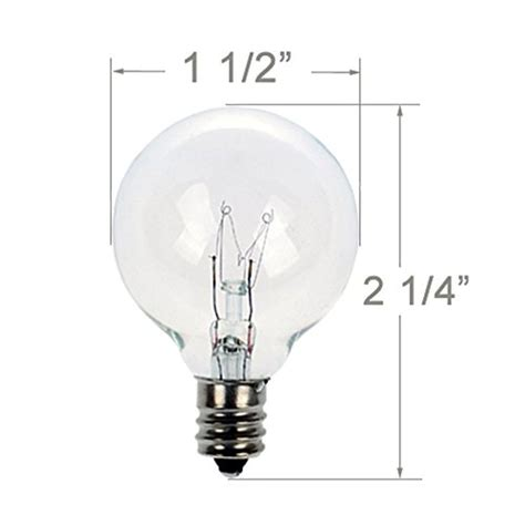light g40 size comparrison pack of 25 glass globe light bulbs clear g40 size with candelabra base incandescent