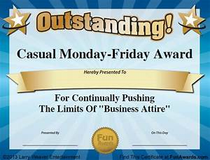 funny office award certificate templates With joke certificate templates
