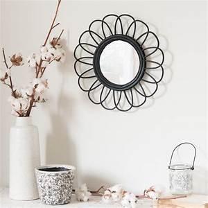 Miroir Rotin Noir : miroir rond en rotin noir d35 maisons du monde ~ Melissatoandfro.com Idées de Décoration