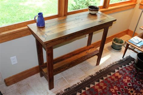 entry hall table height rustic entryway table height stabbedinback foyer