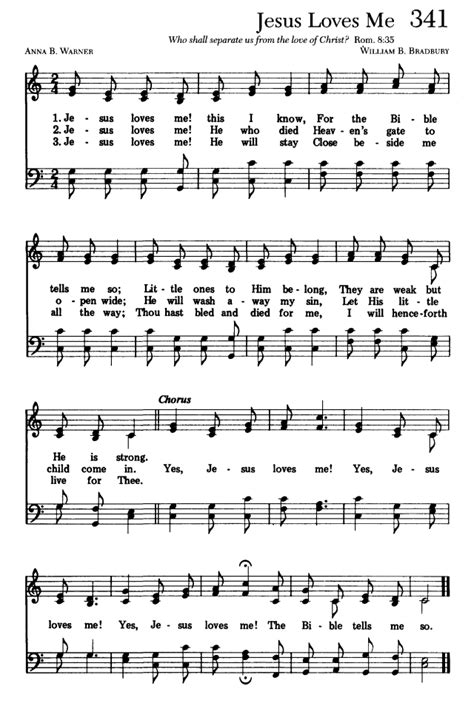 Post songs almost every person knows. Sing Joyfully 341. Jesus loves me! this I know | Hymnary.org