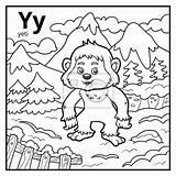 Yeti Alphabet Coloring Lettera Descolorido Coloriage Ypsilon Letter Malbuch Farbloses Colorless Druku Kolorowanki Litera Kolorowanka Alfabet Bezbarwny Vectors Ohbq Divertenti sketch template