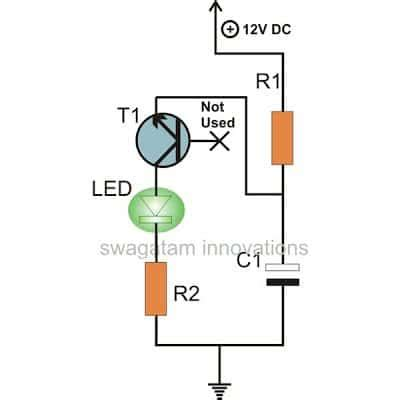 Single Transistor Led Flasher Circuit Homemade