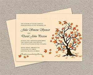 diy fall wedding invitation printable fall leaves wedding With free printable autumn wedding invitations