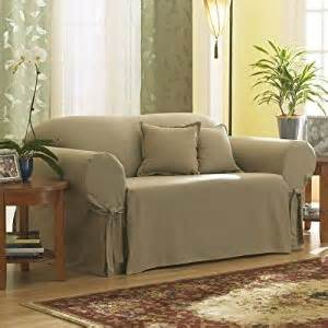 amazon com sure fit cotton duck loveseat slipcover