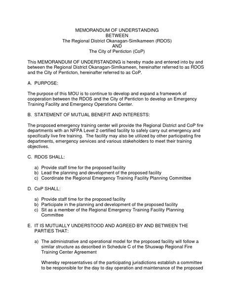 Memorandum Of Understanding Template Memorandum Of Understanding Template Word Beepmunk