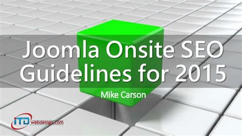 what is onsite seo joomla onsite seo guidelines for 2015