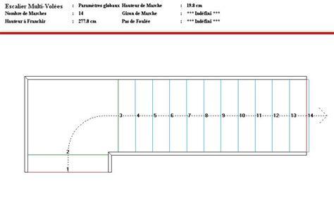 plan construire un escalier aide dimensions escalier 1 4 tourant palier