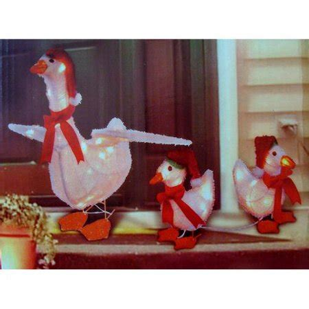 piece goose family lighted christmas yard art set