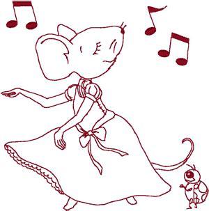 redwork machine embroidery designs dancing milli belle